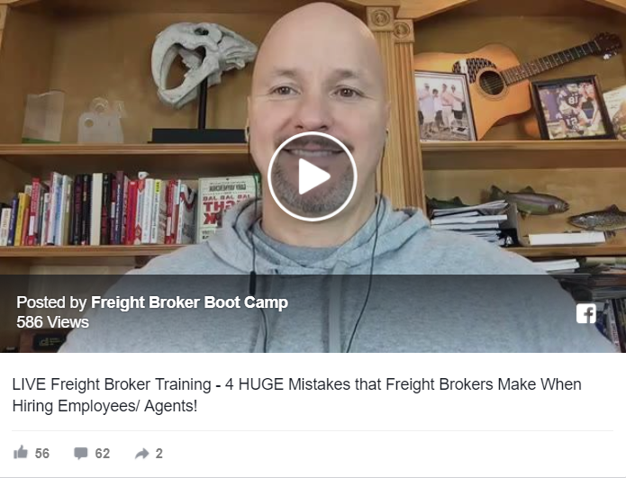 Freight Broker Training REPLAY – 4 HUGE Mistakes that Freight Brokers Make When Hiring Employees/ Agents!