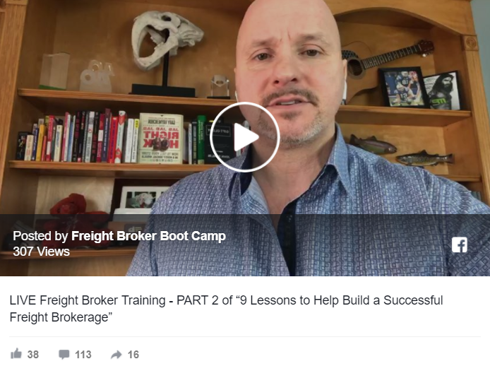 "PART 2 of ""9 Lessons To Help You Build a Successful Freight Brokerage"""